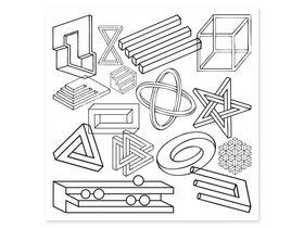 Накладка для фасада - Невозможные фигуры