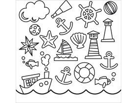 Накладка для фасада - Кораблики