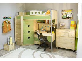 """Детская комната """"Полосатый рейс-2"""" для школьника c кроватью чердаком"""