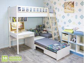 """Мебель для маленькой детской """"Феникс"""" c кроватью трансформером"""