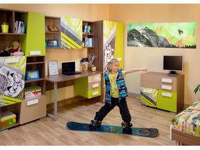 "Комната для подростка мальчика ""Slash сноуборд"""