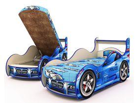 """Машина кровать """"Полиция бежевая"""" в нескольких размерах с ящиком для белья"""