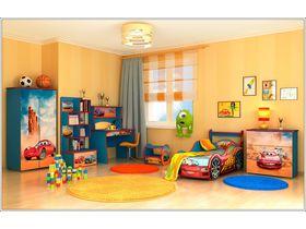"""Детская комната """"Тачки"""" с кроватью машиной"""