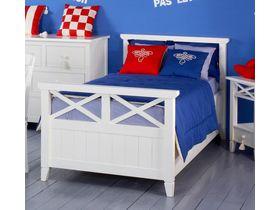 """Детская подростковая кровать """"Океан"""" в белом цвете"""