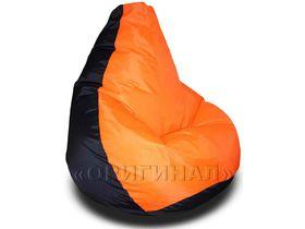 Кресло-мешок полиэстер черно-оранжевое