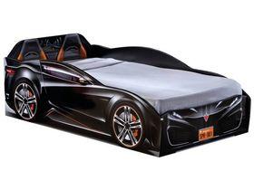 """Кровать-машина """"Spyder"""", под матрас 70х131 см в чёрном цвете"""