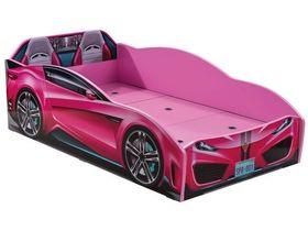 """Кровать-машина """"Spyder"""", под матрас 70х131 см в розовом цвете"""