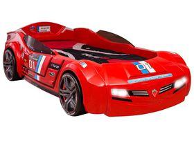 Carbed Кровать-машина BiTurbo, красная, сп. м. 90х195