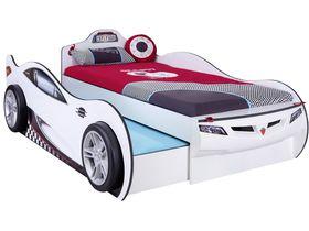 """Кровать машина """"Coupe Friend"""" c выдвижной кроватью, 90х190/90х180см, белая"""