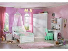 """Детская коллекция мебели в белом цвете для девочки """"Selena"""""""