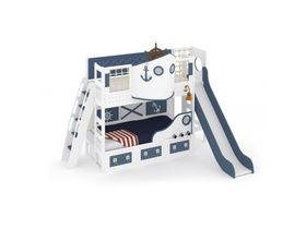 """Кровать-корабль """"Океания"""" с горкой, наклонная лестница"""