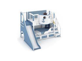 """Кровать-корабль """"Океания"""" с горкой, модульная лестница"""