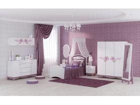 """Коллекция детской мебели """"La Fleur"""" для девочек с ручной росписью"""