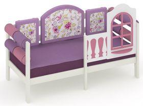 """Детская кровать-диван c бортиком безопасности из массива сосны """"La Fleur"""""""