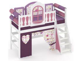 """Детская кровать чердак с игровой зоной из массива """"La Fleur"""""""