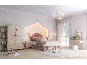 """Детская мебель """"Маркиза"""" для девочек с ручной росписью"""
