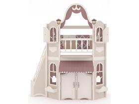 Домик большой, наклонная, закрытая лестница