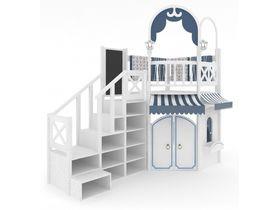 Домик малый, модульная лестница, декор-ручная роспись