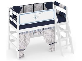 """Кровать чердак """"Регата"""" из массива сосны низкая"""