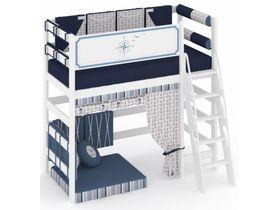 """Кровать чердак """"Регата"""" из массива сосны высокая (до спального места 130см) без текстиля"""