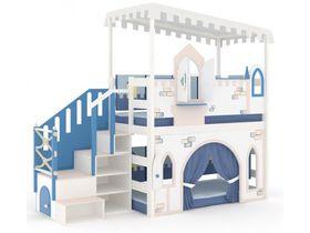 Домик большой, модульная лестница, декор, ручная роспись