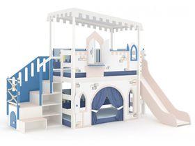 Домик большой, модульная лестница, декор, ручная роспись, горка