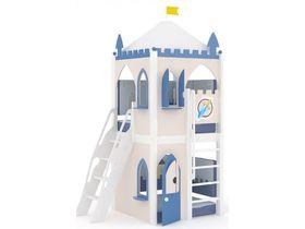 Домик угловой, наклонная, закрытая лестница, декор, ручная роспись