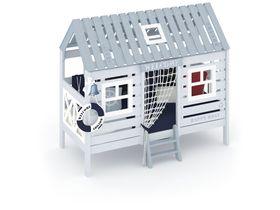 """Домик-кровать  для мальчиков в морском стиле """"Белый кит"""""""