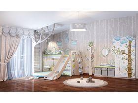 """Мебель для детей """"Совы"""" с ручной росписью из массива дерева"""