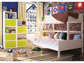 """Детская двухъярусная кровать """"Ланга"""" с полуторным спальным местом внизу"""