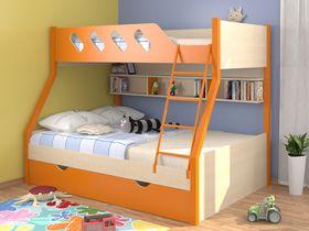 """Двухъярусная кровать детская """"Дельта оранжевая"""""""