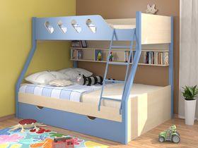"""Двухъярусная кровать детская """"Дельта голубая"""""""