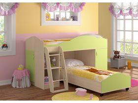 """Угловая детская двухъярусная кровать """"Анастасия"""" со шкафом"""