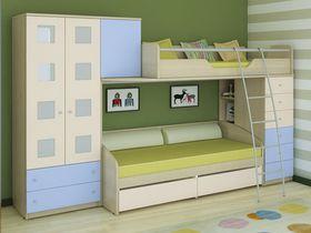 Детская двухъярусная кровать со шкафом Некст (Композиция 3)