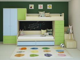 Детская комната с двухъярусной кроватью Involux