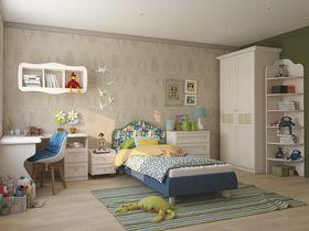 """Детская комната для мальчика в классическом стиле """"Соня"""" с кроватью с мягкой спинкой"""
