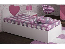 """Кровать с декоративным изголовьем в нескольких размерах из коллекции """"Солнечный город"""""""