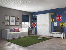 """Детская мебель для спальни в светлой цветовой гамме """"Терни"""""""