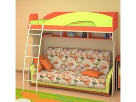 """Детская кровать-чердак с диваном внизу """"МИА"""""""
