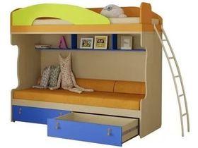 Кровать двухъярусная с металлической лестницей 200х90