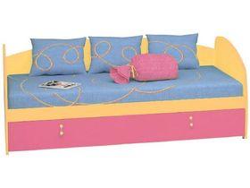 """Кровать-диван с выдвижной кроватью (обычное изголовье/изножье) """"Миа"""""""