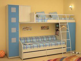 Детская двухъярусная кровать со шкафом Некст (Композиция 4)