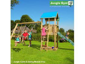"""Детский городок """"Jungle Castle & Swing Module X'tra & Rock Module"""""""
