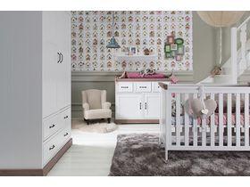 """Белая мебель для младенцев """"Savona White / Grey"""""""