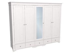 """Шкаф 5-дверный 253см с одной зеркальной дверцей из коллекции """"Бейли"""""""