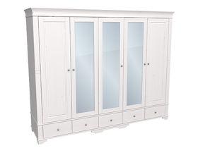 """Шкаф 5-дверный 253см с тремя зеркальными дверями из коллекции """"Бейли"""""""