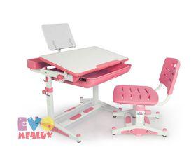 """Розовая детская парта со стульчиком """"EVO-04"""""""
