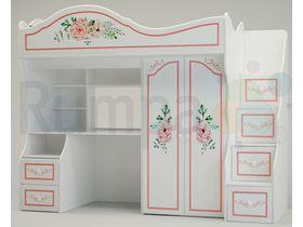 """Детская кровать-чердак со шкафом """"ПРОВАНС"""""""