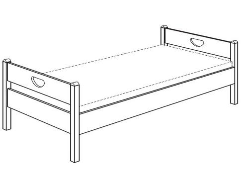 Кровать c 2-умя изголовьями