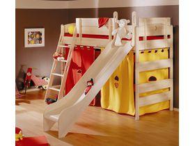 Детская игровая кровать с горокой Fleximo высотой 155 см из массива берёзы